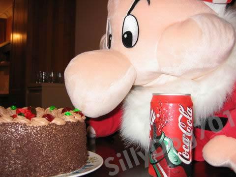 Grumpy and the cake